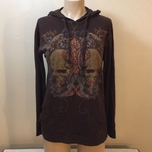 Buckle Brown Witch Of New Orleans Hoodie Top Boho